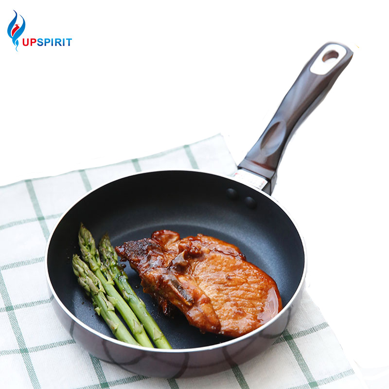 Upspirit 7Inch Mini Frying Pan Skillet Fried Eggs Steak Pot Aluminum Alloy Non-stick Non-fog Griddle&Grill Pan With Glass Cover