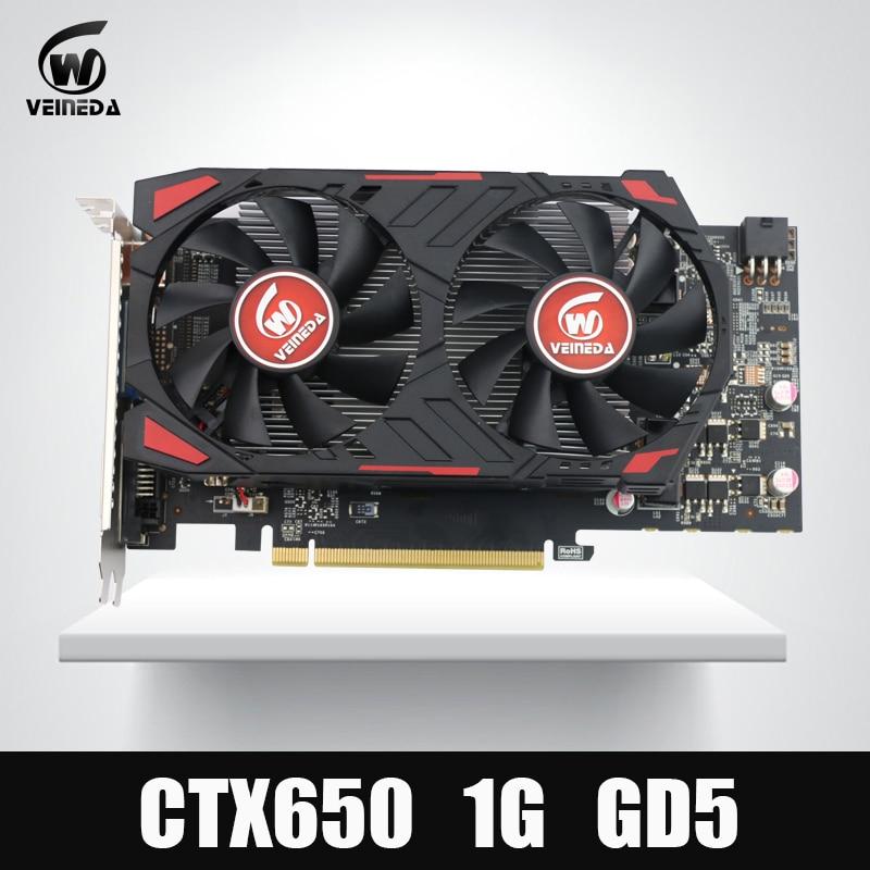 D'origine GTX650 GPU Veineda vidéo carte graphique GTX650 1 GB GDDR5 128BIT VGA Carte pour nVIDIA PC gaming plus fort que GT630, GT730