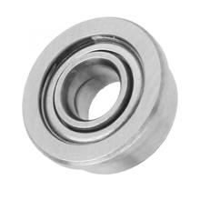 10pcs 1.5x4x2/2x5x2.2/3x7x3mm Double-side Sealed Deep Groove Steel Flange Ball Bearings Housing Mount F681-ZZ/F682-ZZ/F683-ZZ