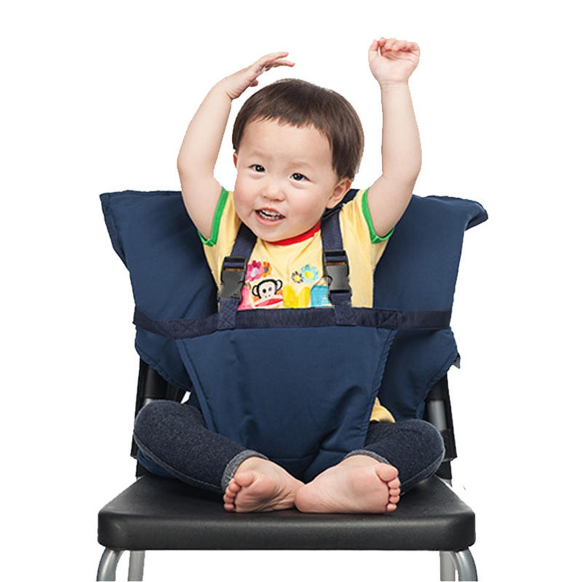 Portable Baby Safety High Chair Dining Feeding Travel Seat Harness ...