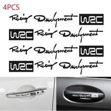 4pcs/set Auto Car Stickers Decals WRC World Racing Development Creative Door Handle Vinyl Body Decorative on Cars