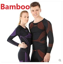 Free Shipping,men Bamboo charcoal fiber,healthy thermo clothing men's soft sets.Brand femme long Thermal underwear