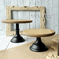 Wood Cake Accessory Metal Base Cake Stand Dispaly Tray Wedding Party Table Decoration Supplier Cake Accessory