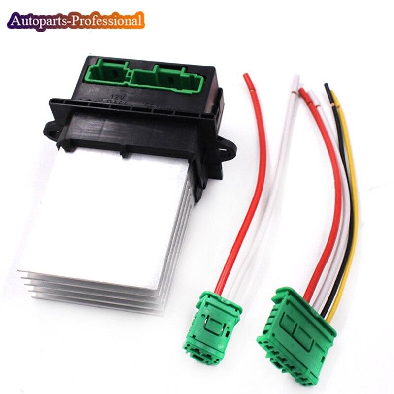 YAOPEI резистор вентилятора кондиционера + Соединитель/провод для Citroen Renault Megane Scenic Clio PEUGEOT 207 607 6441L2 7701048390