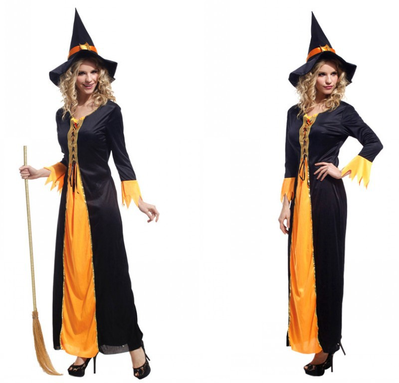 Ladies Purim Brand New adult woman perfomance dress Halloween witch cosplay costume