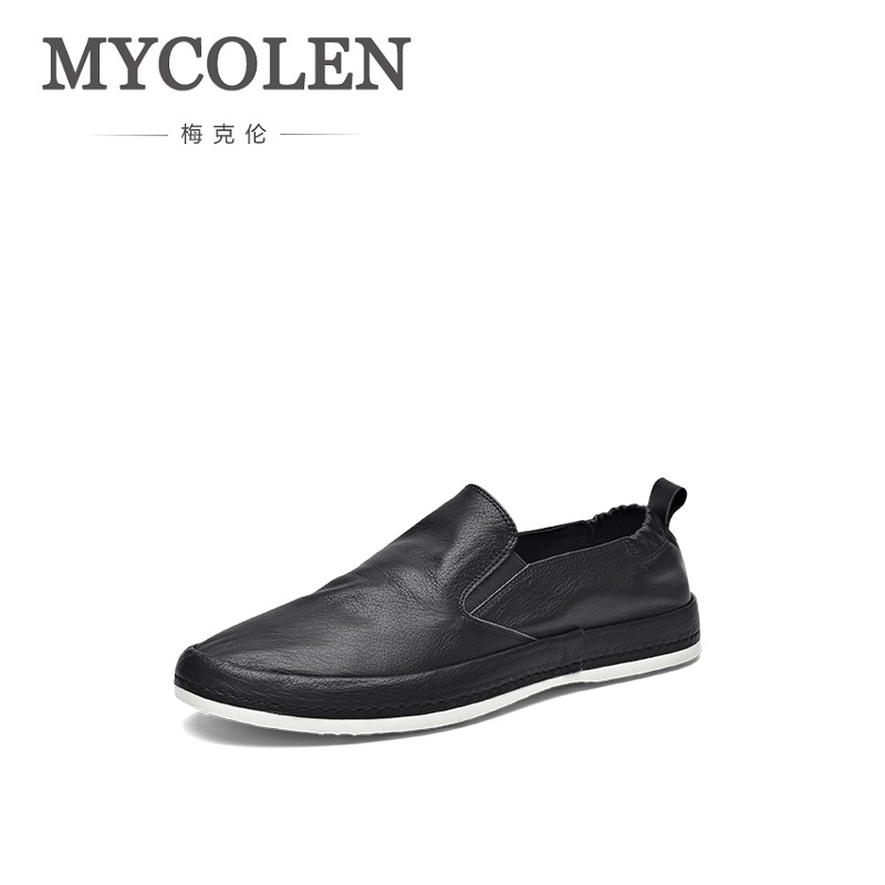 MYCOLEN New Men Shoes Loafers Leather White Men's Casual Shoes Brand Comfortable Spring/Autumn Fashion Breathable Man Shoes mycolen 2018 new spring autumn classic men casual shoes comfortable flat shoes fashion breathable wear resistant shoes