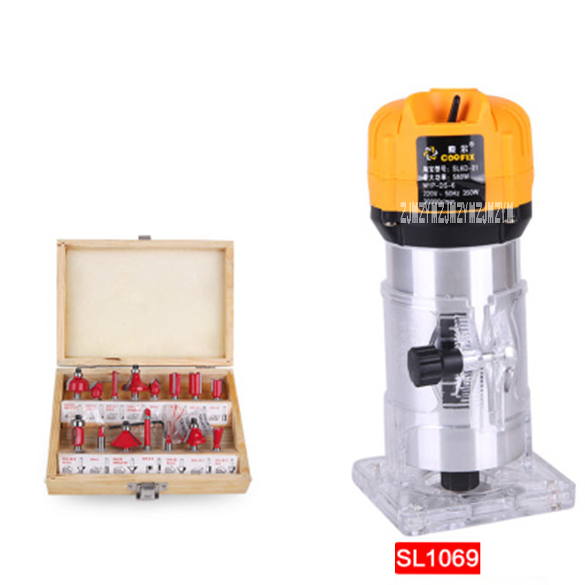 Electric Trimmer Woodworking Slotting Machine Multi-function Engraving Machine SL 1069 Aluminum Body Trimmer 220v 350W 3000r/min cukyi household electric multi function cooker 220v stainless steel colorful stew cook steam machine 5 in 1