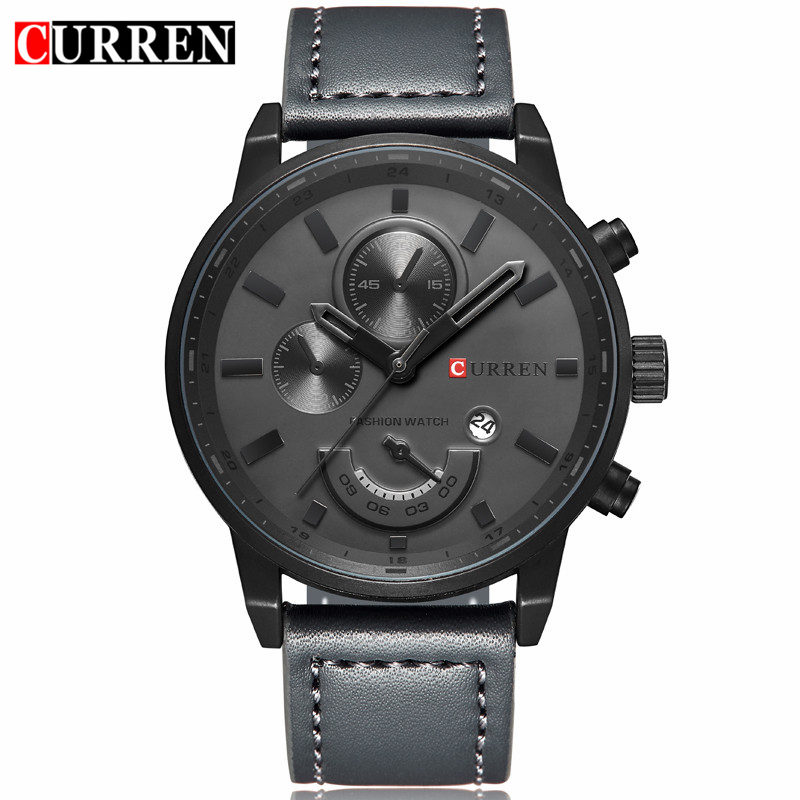 Curren Quartz Watch Men 2017 Top Brand Luxury Leather Grey Mens Watches Casual Male Sport Clock Men Auto Date Wristwatches 8217Curren Quartz Watch Men 2017 Top Brand Luxury Leather Grey Mens Watches Casual Male Sport Clock Men Auto Date Wristwatches 8217
