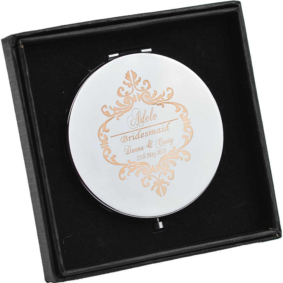 #JZ Personalised  Bridesmaid gift  Foldable Compact Beauty Purse Mirror Bridal Shower Party Favour  Wedding Gift Favor
