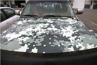 Military Green Digital Camo Vinyl Car Film Air Free Pixel Camouflage Wrap Decal Car Sticker 1.52x30M/Roll