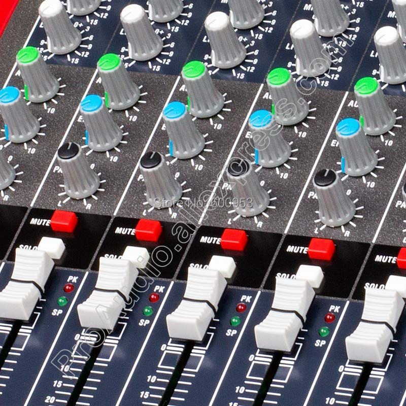 MICWL Pro 12 Channel Microphone Mixing Console with 99 Audio effect 24 Bit USB Studio Processor Ideal Bluetooth Mixer for Stage in Microphones from Consumer Electronics