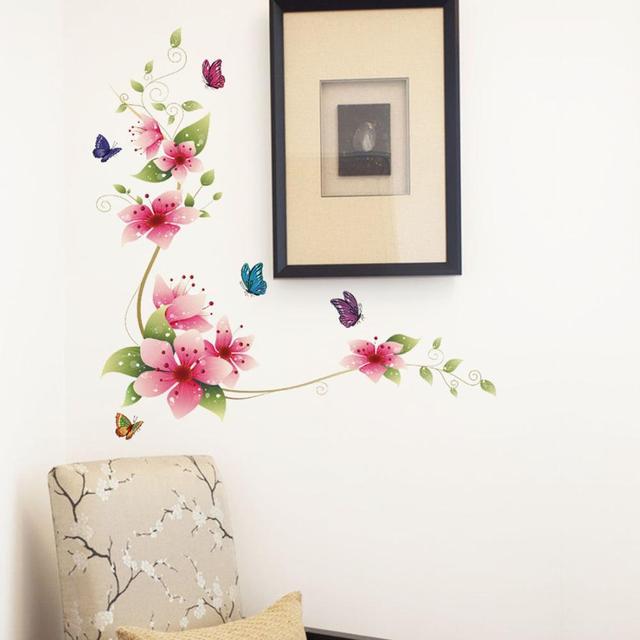 Flower Butterflies Wall Sticker