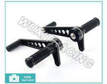 Universal CNC Billet Alu Rearsets Rear Set Footpegs Foot Peg For SUZUKI GT 125 185 250 380 500 550 750 Black