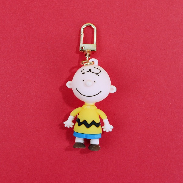 Anime Keychain Charlie brown Snoopy Character dolls Key chain For men 39 s And Women 39 s bags silicone doll Car key pendant Key ring in Key Chains from Jewelry amp Accessories