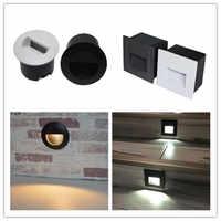 Kenlux Ha Condotto La luce scale passo incasso luci 3W quadrato e rotondo AC85-265V all'aperto e al coperto di modo impermeabile della parete ad angolo lampada