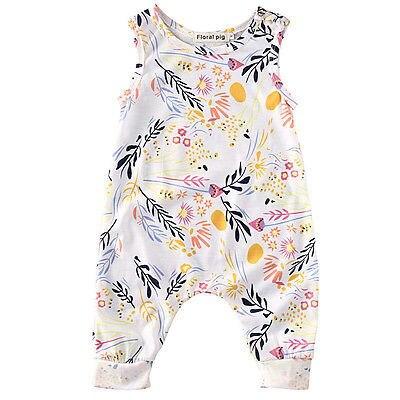 Mode Pasgeboren Kids Peuter Meisje Kleding Mouwloze Romper Bloemen Jumpsuit Playsuit Sunsuit