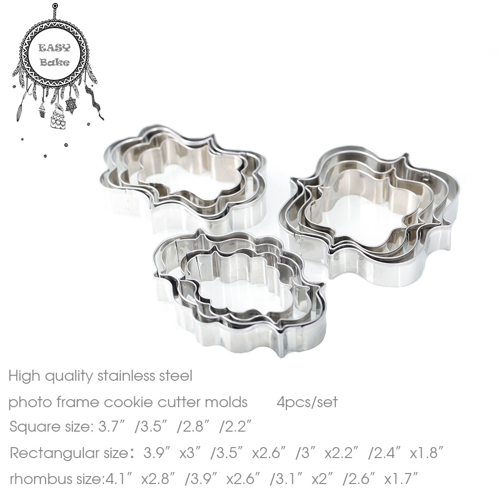 ᓂAlta calidad marco de fotos de acero inoxidable cookie Cutter ...