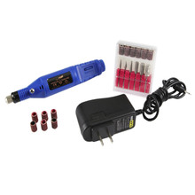 Fast Nail Art Drill KIT Electric FILE Buffer Bits Acrylic Portable Salon Machine G6701