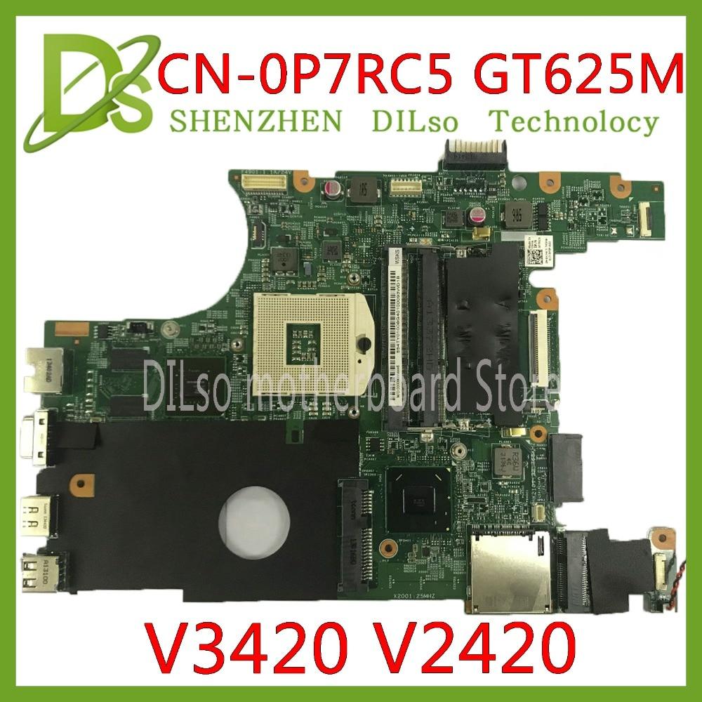 KEFU CN 0P7RC5 для DELL V3420 3420 V2420 2420 CN 0P7RC5 0P7RC5 P7RC5 Оригинал GT625M DDR3 HM75 тестовая материнская плата Оригинал 100%
