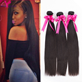 7A Unprocessed Indian straight virgin hair Remy human hair weave 3 bundles Indian virgin hair extensions Rosa hair products