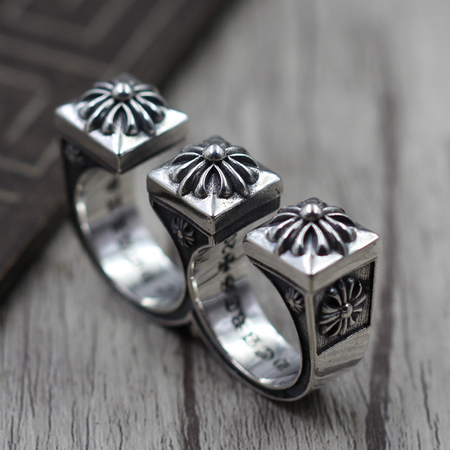 S925 Sterling Silver Jewelry Personalized Domineering Ring Thai