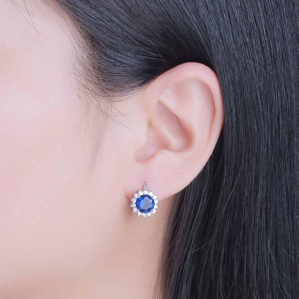 UMCHO สร้าง Sapphire Stud ต่างหูสร้อยคอเงินแท้ 925 เครื่องประดับชุดผู้หญิงคลาสสิกเครื่องประดับของขวัญ Fine