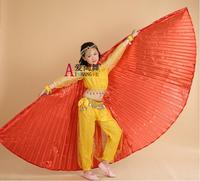 2015 High Quality Red Children Belly Dance Isis Wing For Kids For Sale