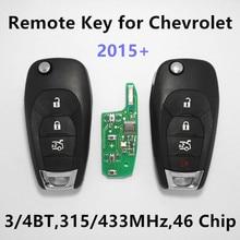 Clave remoto 315 Mhz 433 MHz para CHEVROLET 2010 + Nuevo Malibu Cruze chispa aveo volt camaro equinoccio de sonic remoto sin llave coche auto clave