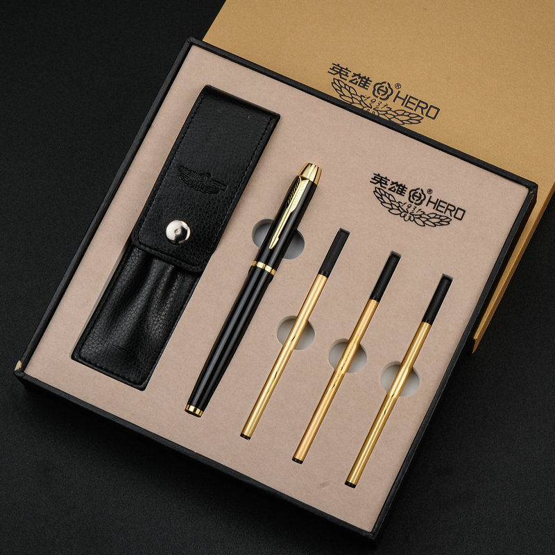 High Quality Luxury Business Metal Ballpoint pen Golden Clip Ball pen for gifts Office Signing Gel Pen Stationery supplies 03667 german imports schneider signing pen gel pen elegant business 1pcs