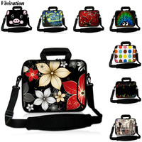 Viviration Floral Print Messenger Laptop Bag 13 15 12 10 17 14 13 3 15 6