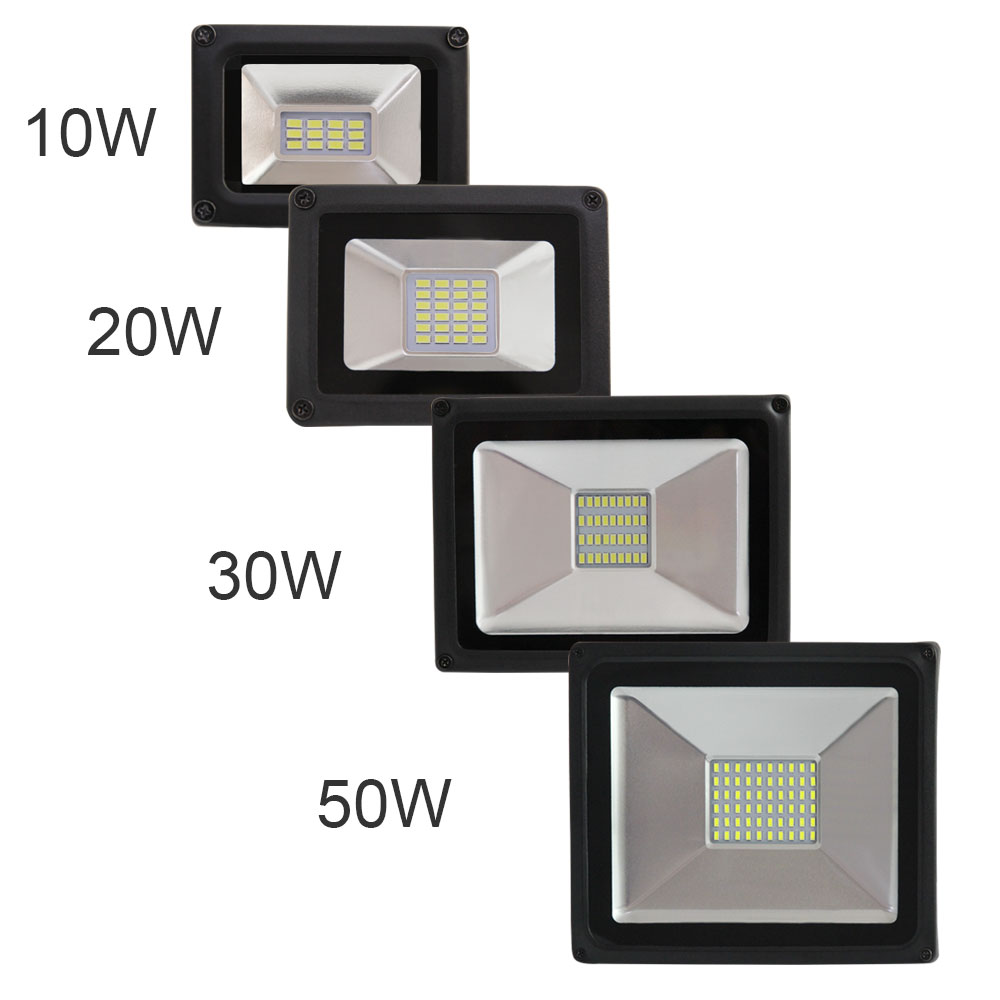 LEDs 220V Floodlight LED Flood Light 10W 20W 30W 50W  Floodlight LED Outdoor Floodlights IP65 Waterproof outdoor garden square