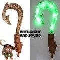 Moana Waialiki Maui Heihei Armas de Som Luz Sabre de Pesca Gancho Figuras de Ação Brinquedo Para Presente Das Crianças