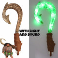 Moana Waialiki Maui Heihei Weapons Light Sound Saber Fishing Hook Action Figures Toy For Children Gift