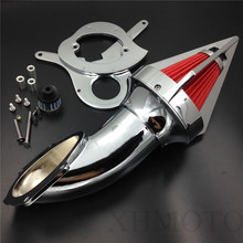 Aftermarket free shipping motorcycle parts  Cone Spike Air Cleaner intake for Honda  Aero 750 VT750 all year 1986-2012 Chrome