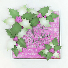 YaMinSanNiO Holly Leaves Metal Cutting Dies Scrapbooking New 2019 Crafts Cuts Card Making Album Embossing