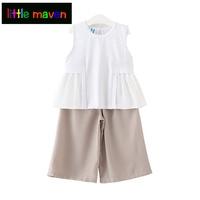 Girls Clothes Set Summer T Shirts Pants Suit Kids Clothing Boutique Cotton Outfits 2018 Children 2