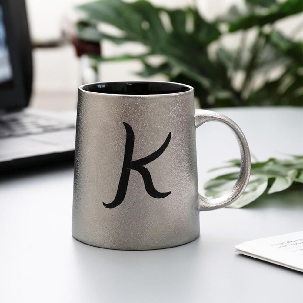 380ml Silver Creative Ceramic Coffee Mug Milk Tea Cup ...