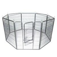 40 Собака Pet манеж Heavy Duty Metal Exercise Fence Hammigrid 8 panel Silver US stock