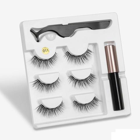 Eyeliner Liquid Magnetic False Eyelashes Tweezer Set Eye Lashes Kit Women Black Makeup Islamabad