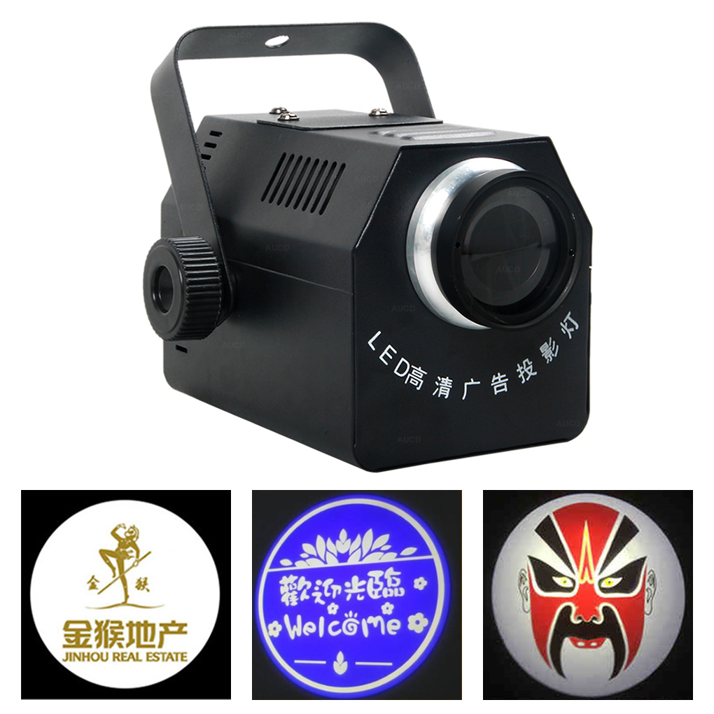 Customize 50W LED Logo Projector Lights Adjustable Focal Advertising Lamp Disco Store Beam Zoom Show Stage AD Gobo Lighting CT50