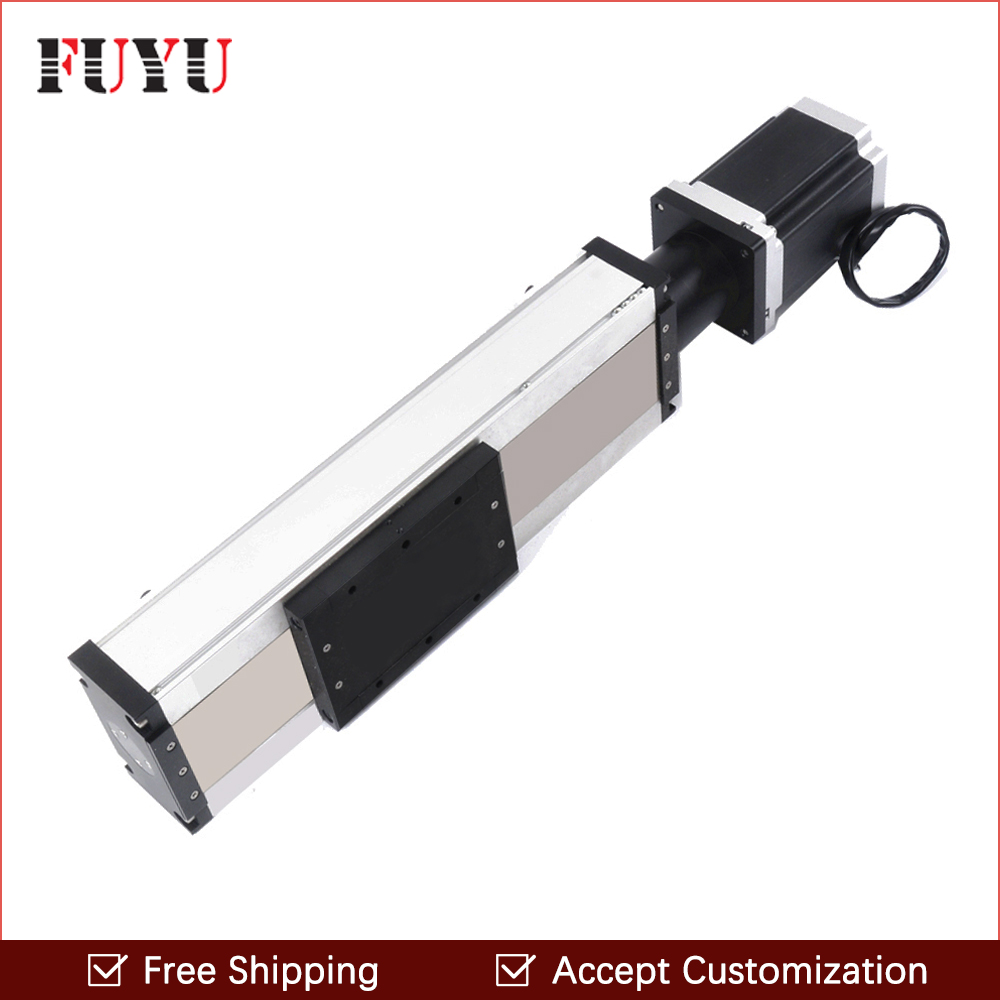 Free shipping China supplier  400mm travel linear motion module with step motor