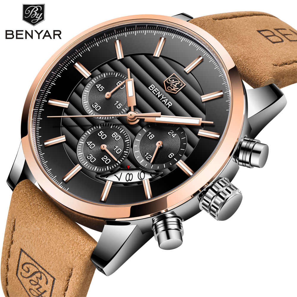 Beni, мужские часы, BENYAR, Лидирующий бренд, водонепроницаемые, спортивные, с хронографом, спортивные, Reloj Hombre, мужские часы, Relogio Masculino