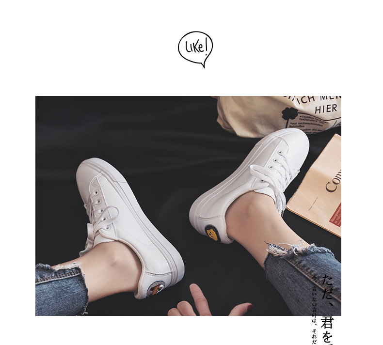 Small white shoes female 2019 spring new wild Hong Kong-flavored shoes female students casual flat bottom shoes tide 43