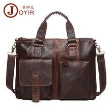 2017 Luxury Laptop Bag Mens Briefcase Genuine Leather Handbag Executive Business Shoulder Bag Travel Bolsos Maletin Hombre B260