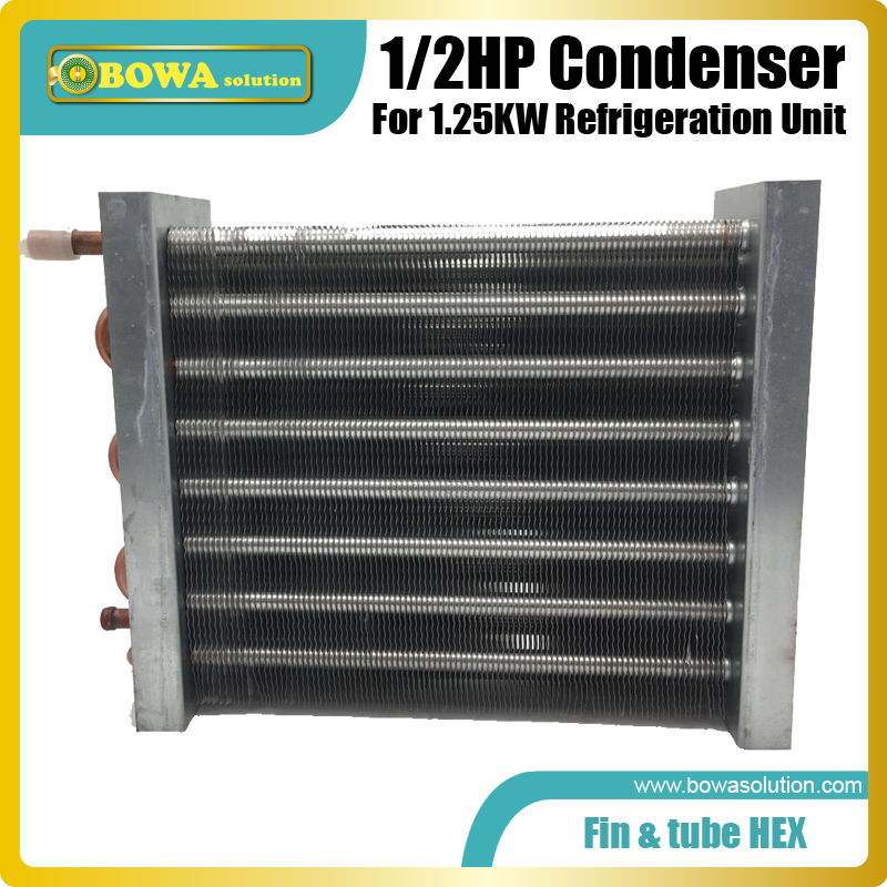 1/2HP finned tube heat exchanger is great to working as condenser in bottle cooler,  beverage cooler and refrigeration cabinets1/2HP finned tube heat exchanger is great to working as condenser in bottle cooler,  beverage cooler and refrigeration cabinets