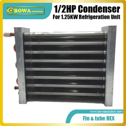 1/2HP finned tube heat exchanger is great to working as condenser in bottle cooler,  beverage cooler and refrigeration cabinets