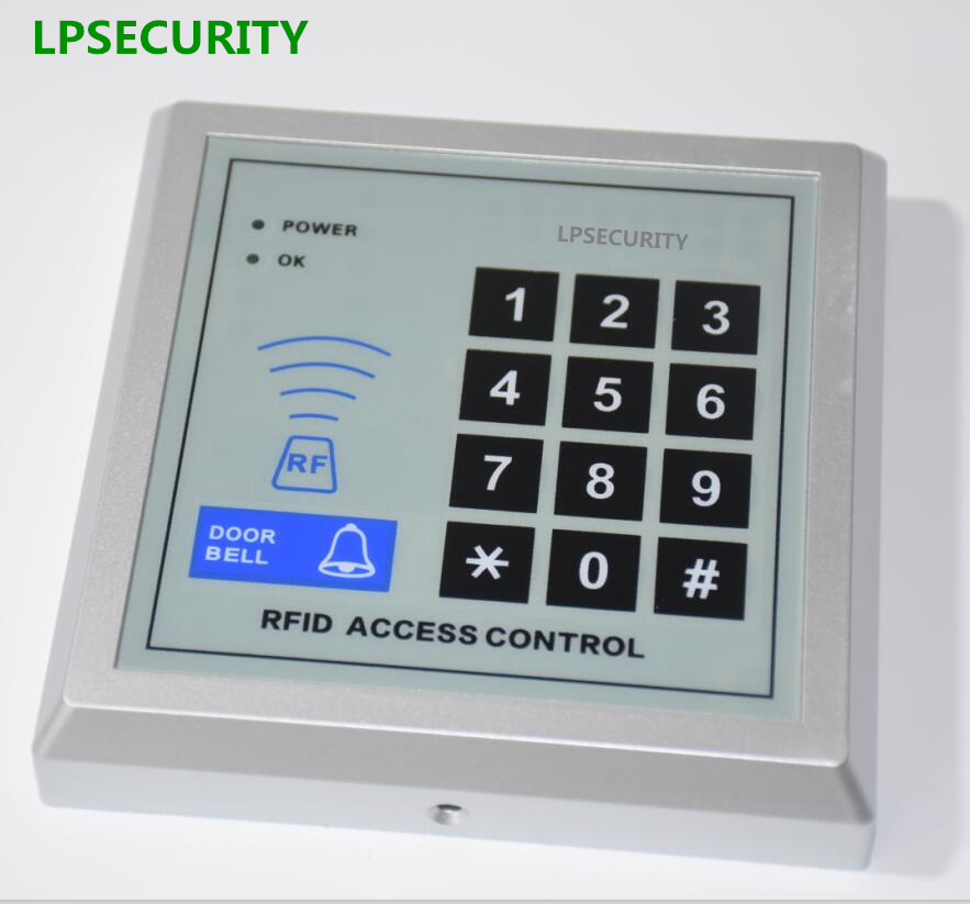 400 users RFID Reader 125kHz Proximity Door Access Control Password Keypad/Access Control RFID Card Keytab Proximity Door Lock diysecur magnetic lock door lock 125khz rfid password keypad access control system security kit for home office