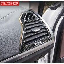 In Fibra di carbonio Opaca di Stile Per BMW X3 G01 2018 ABS Lato Aria Condizionata Presa di CORRENTE Vent Decorazione di Stampaggio Contorno Copertura trim