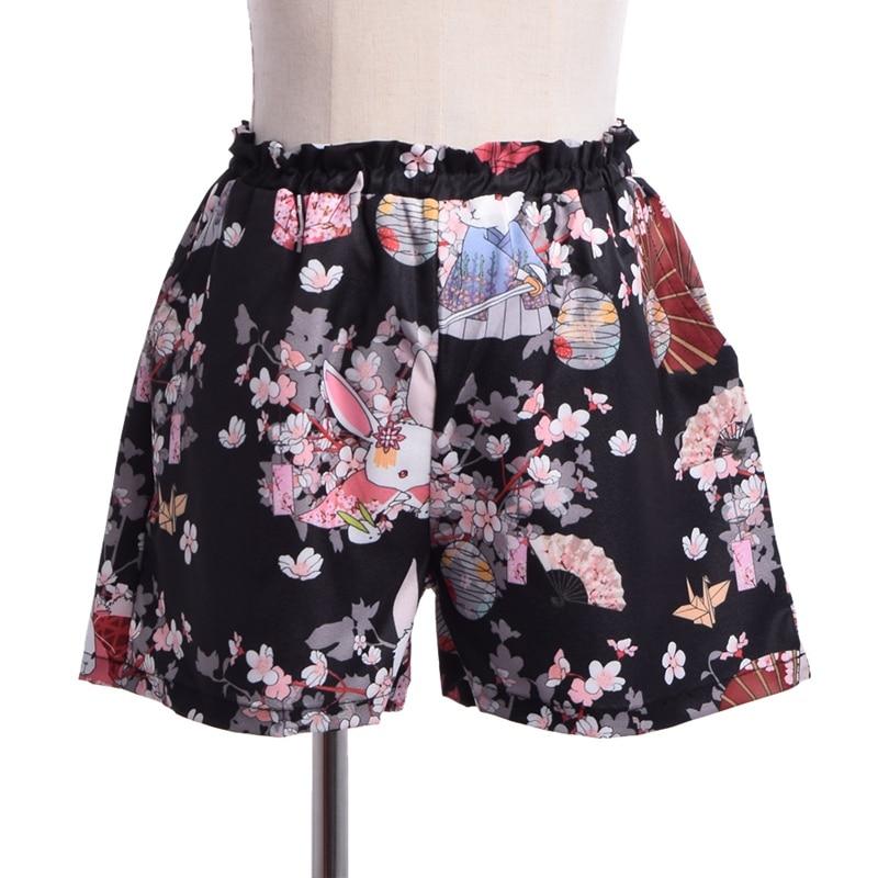 Kvinnor Japansk stil Harajuku Shorts Onegai Usagi Bönkanin Print - Damkläder - Foto 4
