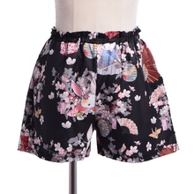 Elastic Print Praying Shorts